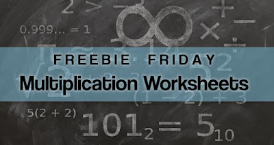 Freebie Friday - Free Multiplication Worksheets
