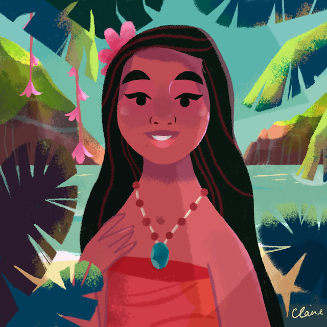 Colour Study Illustration Moana