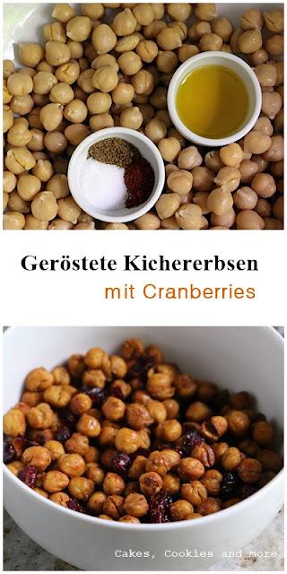 Geröstete Kichererbsen mit Cranberries