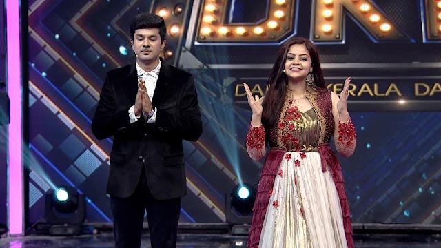 Dance Kerala Dance anchors -Arun and Shilpa Bala