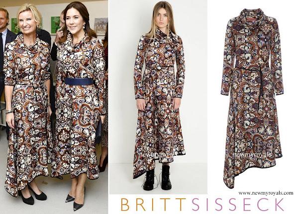 Crown Princess Mary wore Britt Sisseck Olga Dress