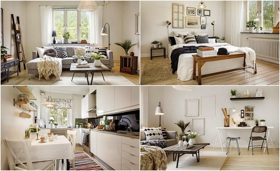 styl skandynawski, vintage, dodatki, dekoracje, ramki, drabina, skrzynka, IKEA