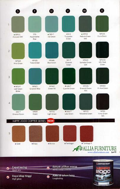 Warna pilihan cat duco 4