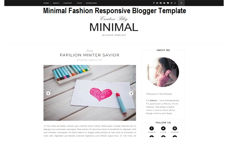 Minimal Fashion Responsive Blogger Template