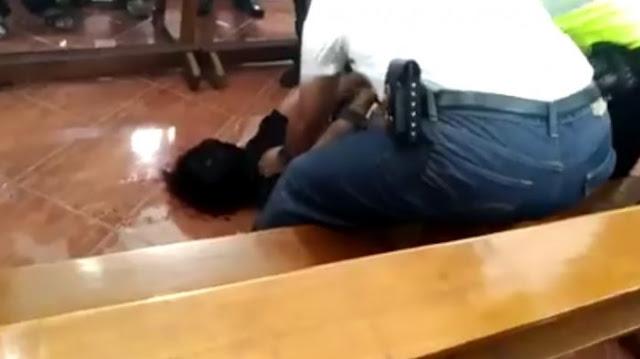 Beginilah Detik-detik Penyerangan Gereja Katolik St. Lidwina di Sleman Yogyakarta