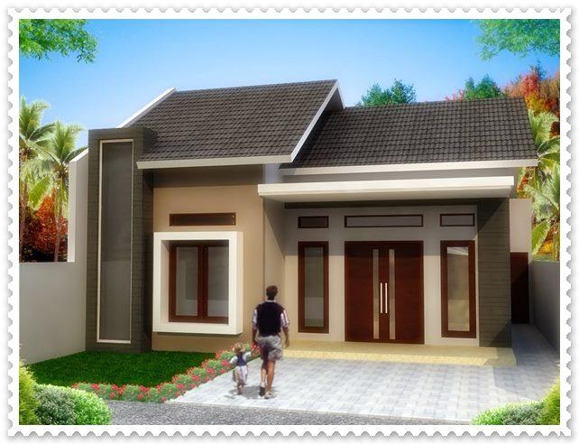 gambar model rumah sederhana tampak depan