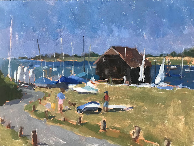 #353 'Preparing to Sail, Bosham' 9×12″
