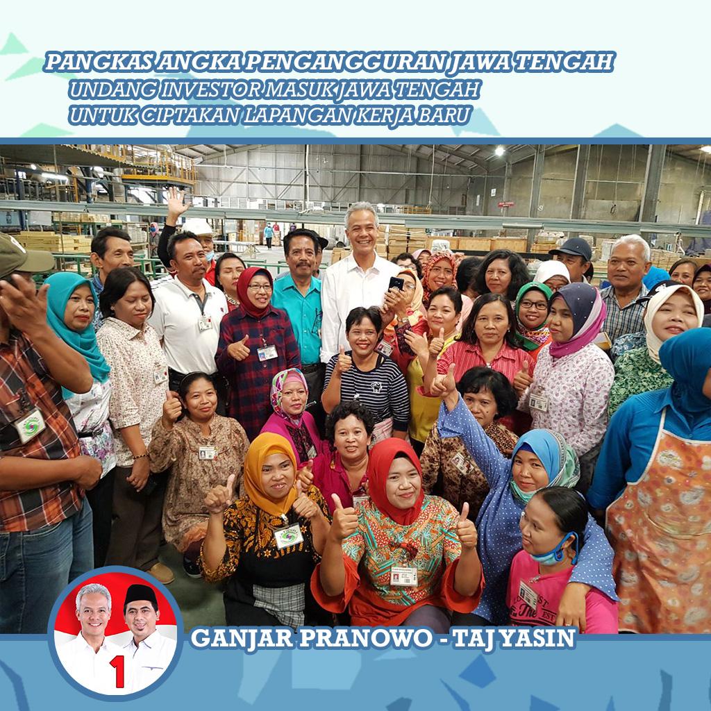 Cara Ganjar Pranowo Tuntaskan Pengangguran di Jateng