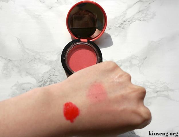 aritaum sugarball velvet blusher and aritaum water sliding tint review cherry blossom korean beauty look