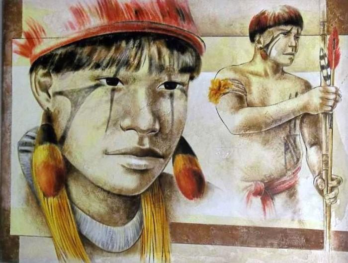 Жители индейской деревни. Gisele Ulisse