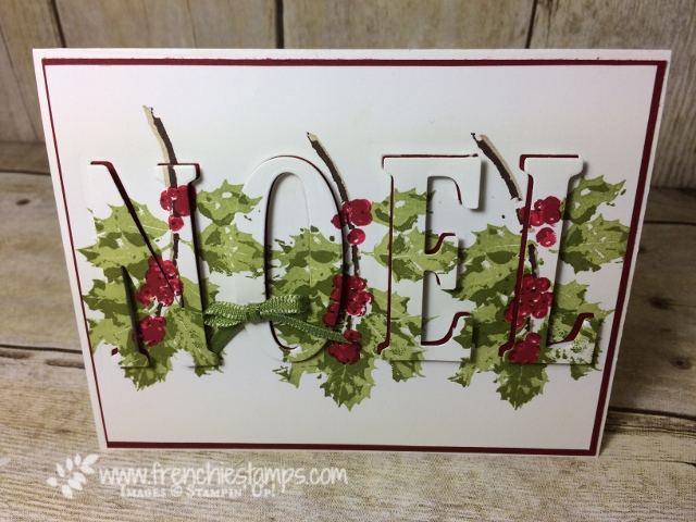 Noel Eclipse card, Good tidings, Large Letter Framelits, Stampin'Up!