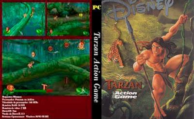 Jogo Tarzan Action Game PC DVD Capa