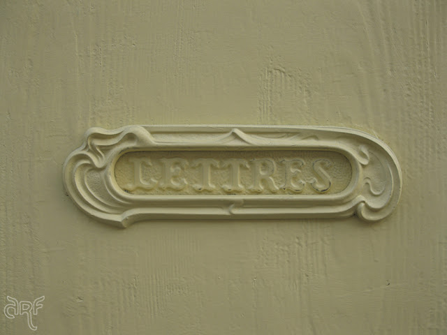 French yellow letterbox