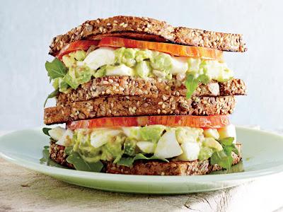 Avocado-Egg Salad sandwich with Pickled Celery