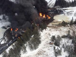 Gogama oil train derailment (Credit: Transportation Safety Board Canada) Click to Enlarge.