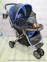 samping Kereta Dorong Bayi BabyDoes CH278 Parade-X Roda 3 Hadap Depan atau Belakang