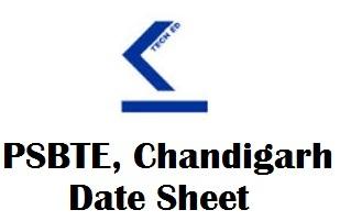 PSBTE Chandigarh Date Sheet 2018