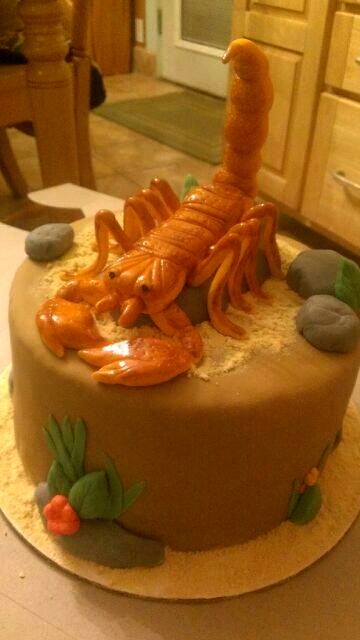 Piece A Cake Scorpion Cake