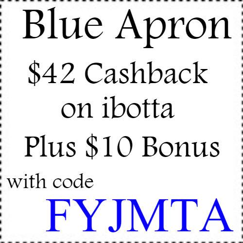 $42 Blue Apron cashback Ibotta app, $10 Ibotta Code