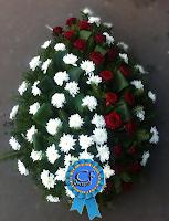 Coroana funerara din Crizantema si Trandafiri