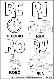 Cartaz das famílias silábicas do R