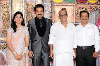 Karthik,Tamil Super Star Karthi's Marriage reception ...
