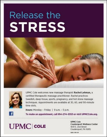 Massage Therapy at UPMC Cole