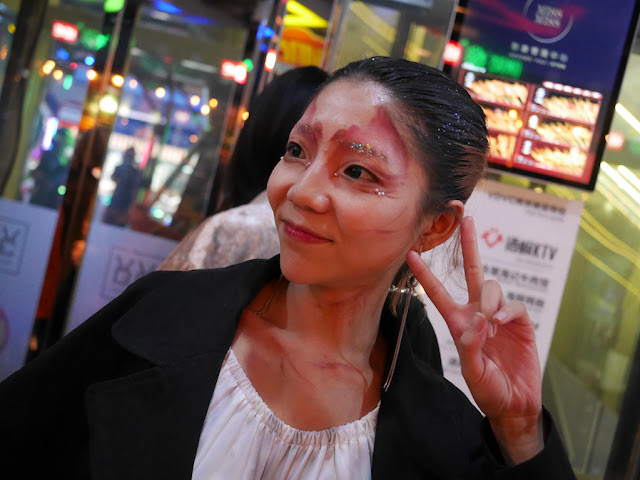 young woman dressed up for Halloween in Changsha