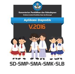 Download Aplikasi From Pendataan Dapodk 2016 SD-SMP-SMA-SMK-SLB
