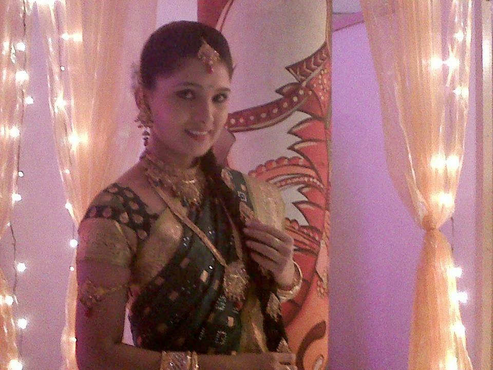 tamil serial actress in silk saree