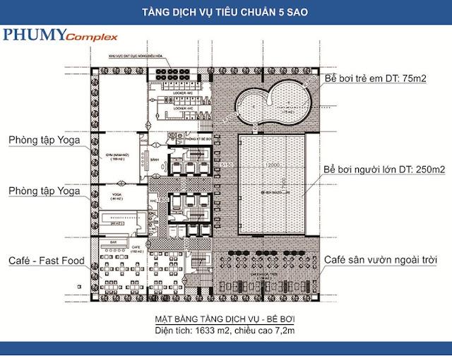 Phối cảnh tầng dịch vụ Phú Mỹ Complex