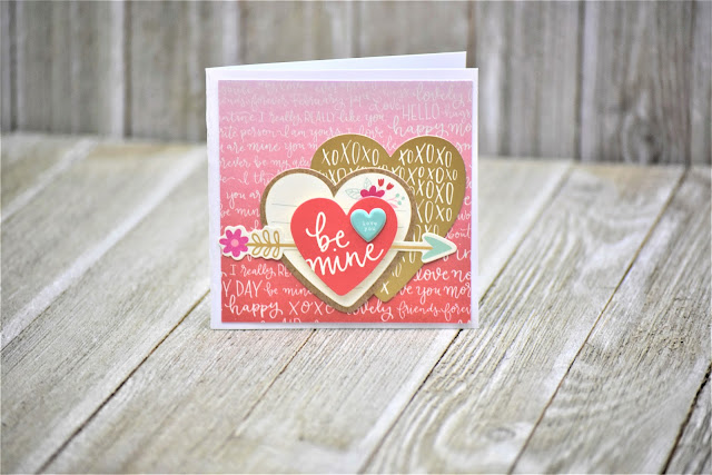 A 4x4 card from Nicole Martel using the Forever My Always collection of paper products