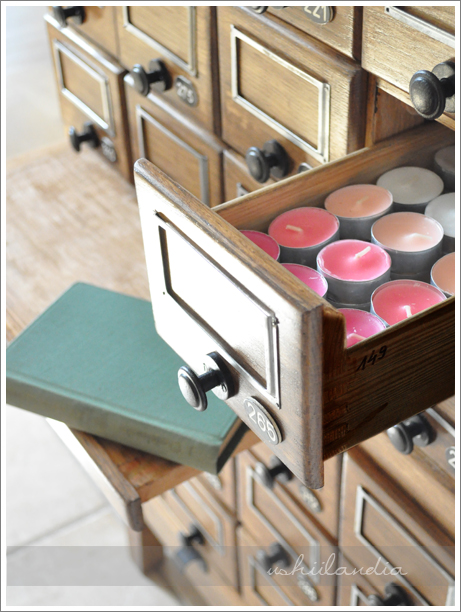stare biblioteczne szufladki, komódki vintage / vintage library drawers