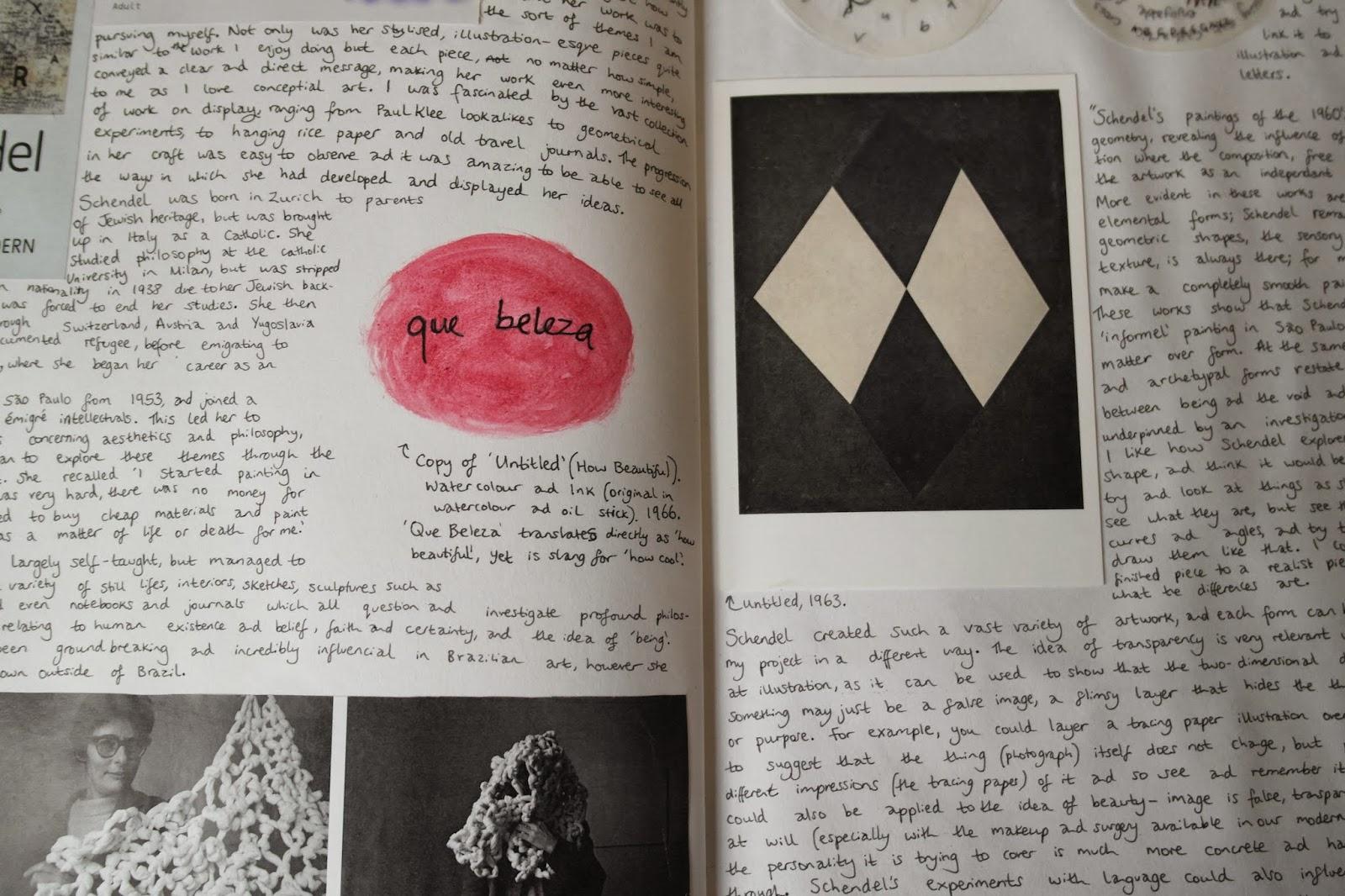 rose and vintage  schoolwork on mira schendel