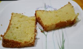 लेमन शिफॉन केक