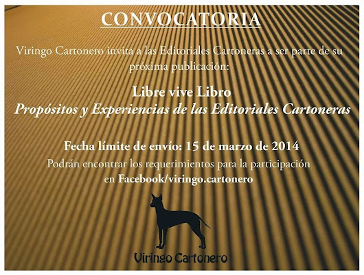 Recordatorio convocatoria de Viringo Cartonero