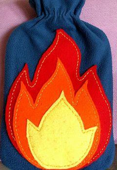 personalizar bolsa agua caliente con fieltro