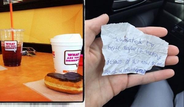 Κέρασε φαγητό έναν άστεγο, κι αυτός της έδωσε ένα σημείωμα που δεν θα ξεχάσει ποτέ