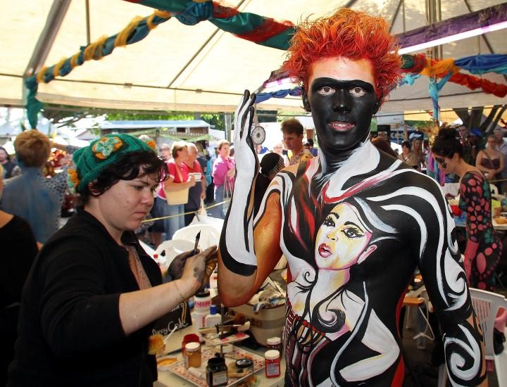 Австралийский бодиарт карнавал 6