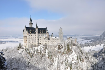Castillo neuschwanstein nevado
