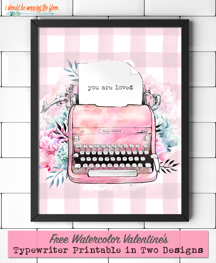 Watercolor Valentine's Printable