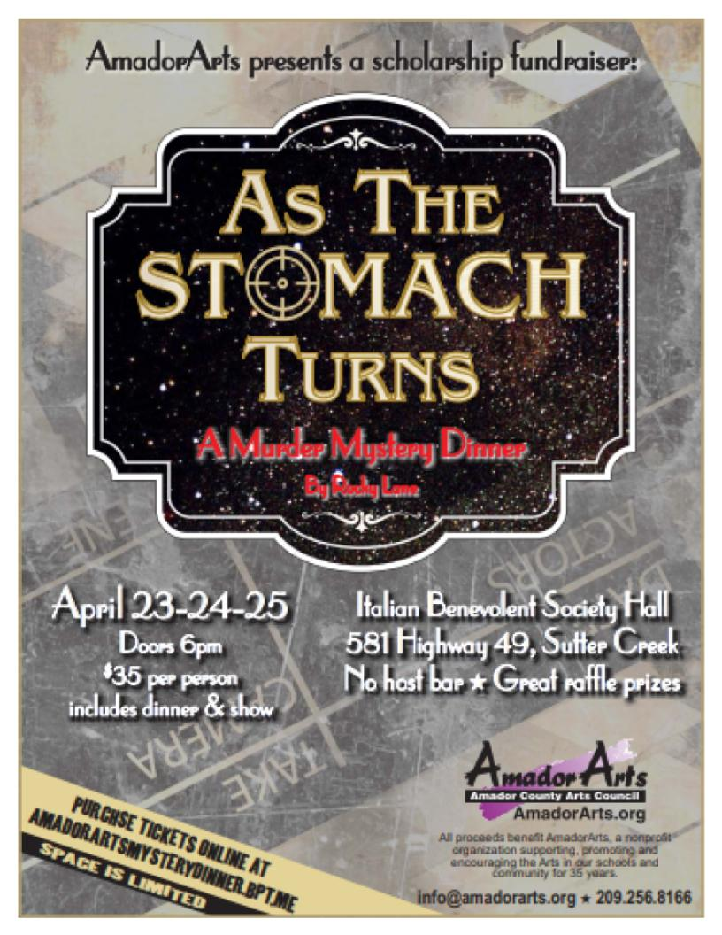 Murder Mystery Dinner: As The Stomach Turns - Apr 23, 24 & 25