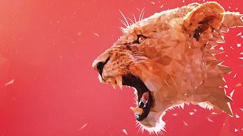 Lioness, Roar, Abstract, 4K, #52