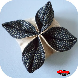 Fabric Origami Ornament crafted by eSheep Designs