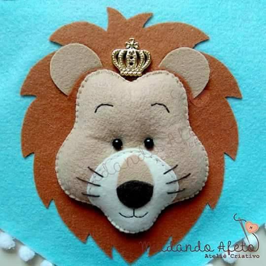 Molde de Leão para chaveiro