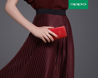 OPPO F3 Red with maroon OOTD