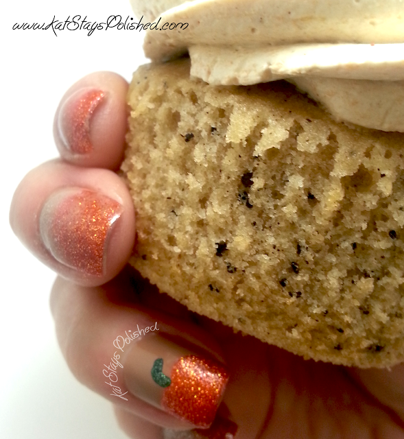 PSL Cupcakes and Nails - Pumpkin Spice Latte Cupcake & Nails