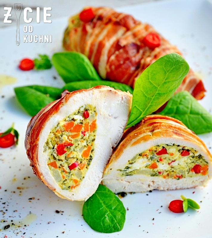 faszerowany kurczak, kieszonki z piersi z kurczka, bryndza podhalanska, malopolskie produkty regionalne, malopolska kuchnia, zycie od kuchni