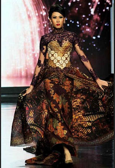 Model rok kebaya bernada glamor