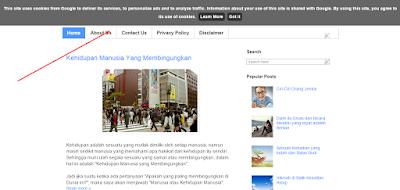 melihat blog dengan mengubah kode negara, misalnya blogspot.fr atau blogspot.co.uk
